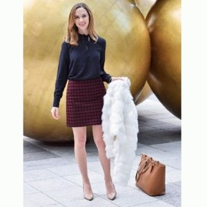 Madewell Wool Buffalo Check Upstate Skirt Size 6 C